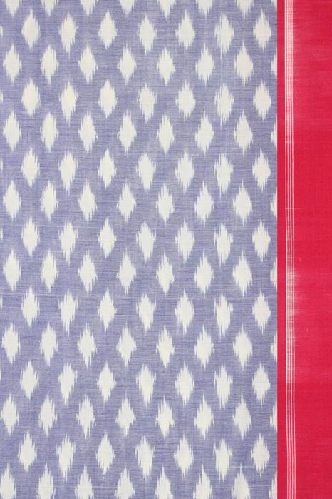 POCHAMPALLY IKAT SAREES - Purple-Red Dot Pattern Pochampally Ikat Saree (3)
