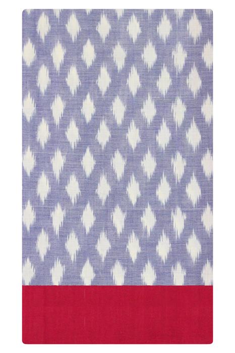POCHAMPALLY IKAT SAREES - Purple-Red Dot Pattern Pochampally Ikat Saree (5)