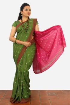 Pochampally Cotton Ikat Sarees Online A1