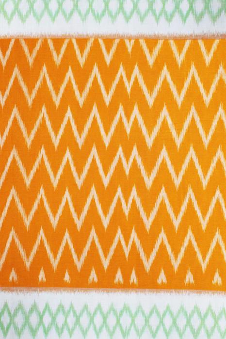Seamless Pattern Designed Pochampally Double Ikat Saree Online - Ikat Saree