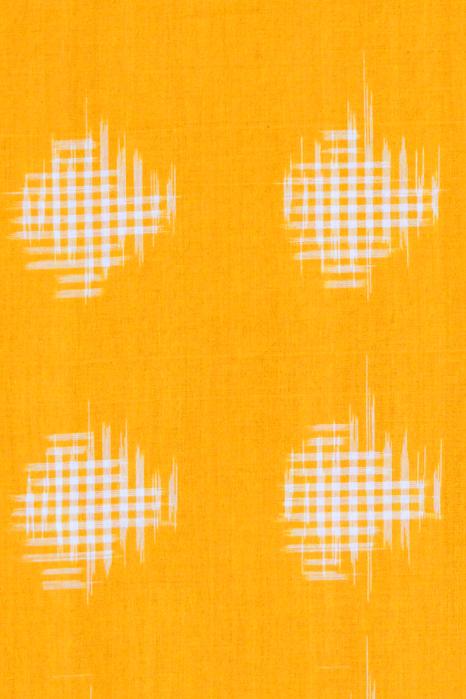 Yellow-Pink Double Ikat Cotton Saree (4)