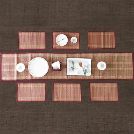 Madur Kathi Dining Table Set With Runner