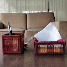 Madur Kathi Pen Stand and Tissue Holder