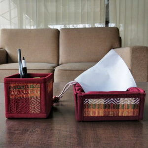 Madur Kathi Pen Stand and Tissue Holder