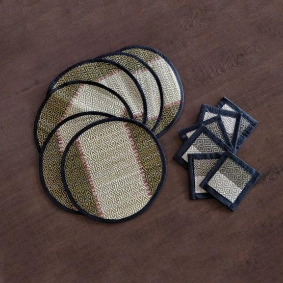 Madur Kathi Round Coaster & Square Mat