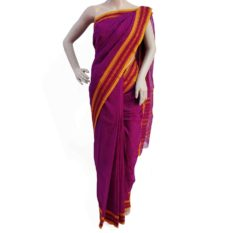 purple cotton handloom sarees