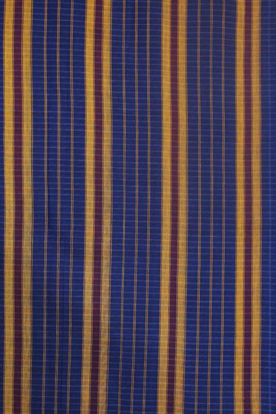 Narayanpet Blue Cotton saree (2)