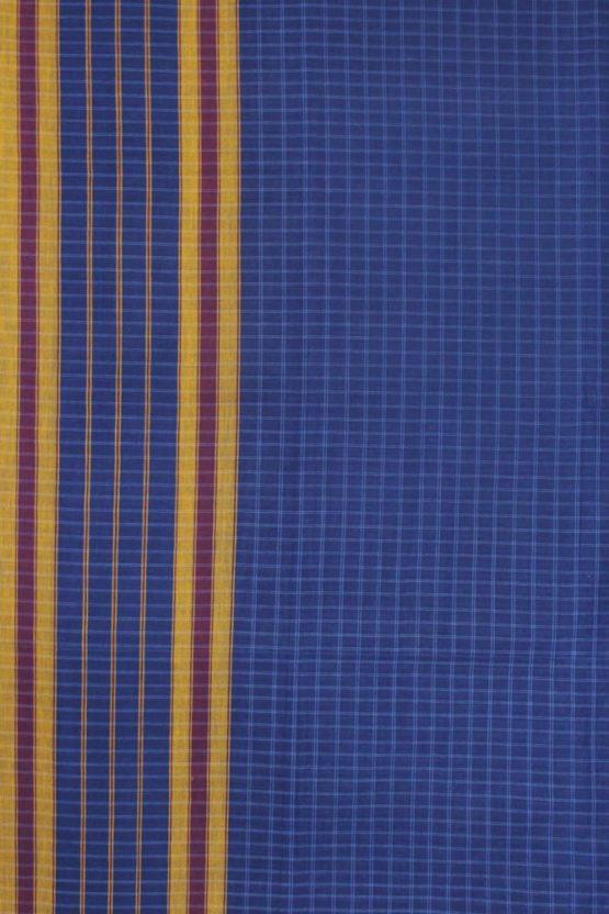 Narayanpet Blue Cotton saree (3)