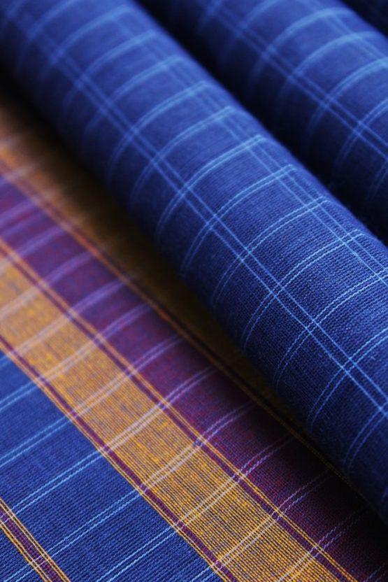 Narayanpet Blue Cotton saree (5)