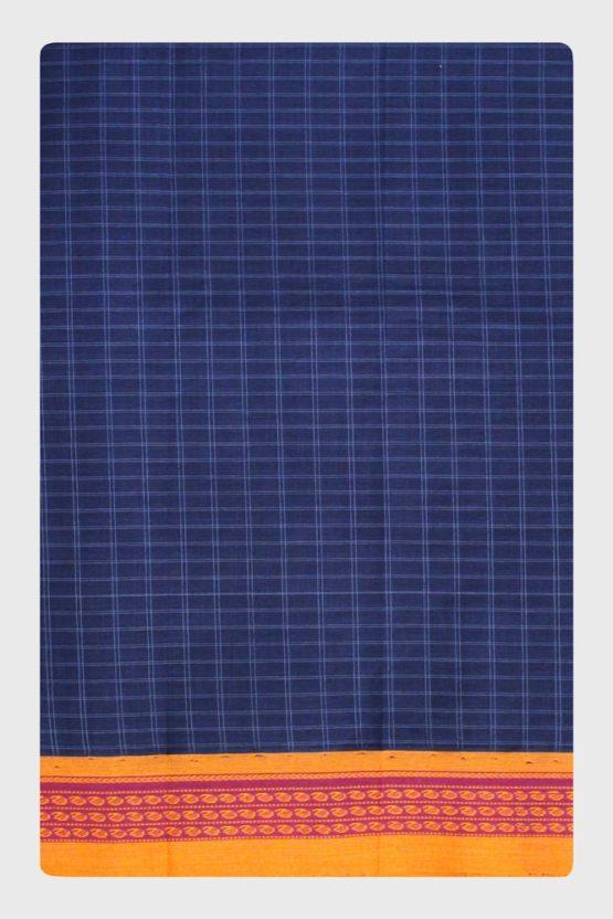 Narayanpet Blue Cotton saree (6)