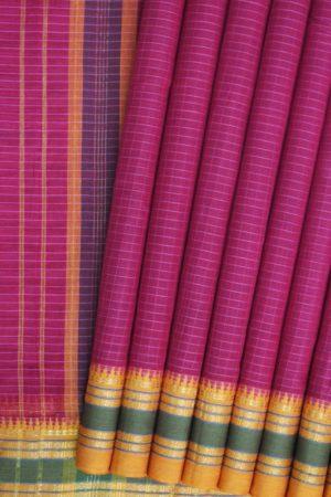 Narayanpet Pink Cotton Saree (1)
