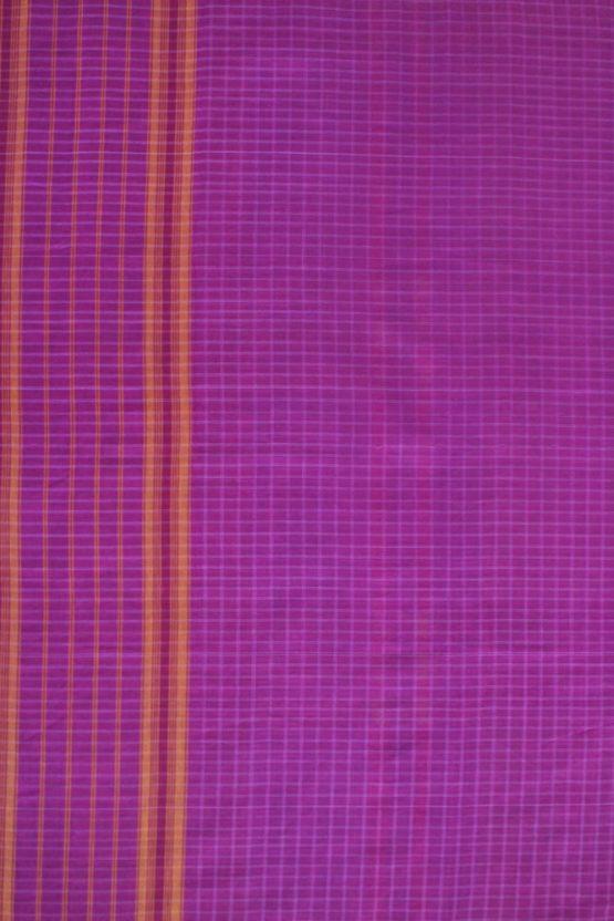 Pink-Yellow Narayanpet Cotton saree (3)