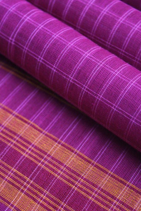 Pink-Yellow Narayanpet Cotton saree (5)