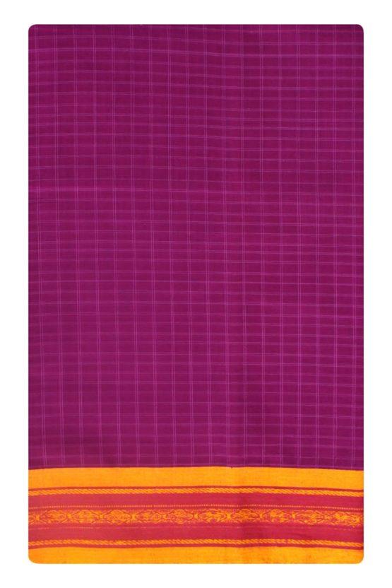 Pink-Yellow Narayanpet Cotton saree (6)