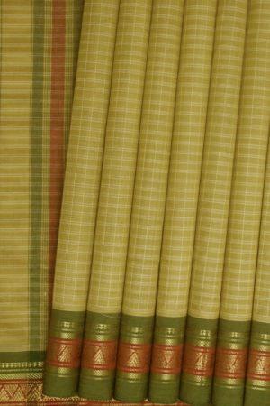 Pure Cotton Checks Saree (1)