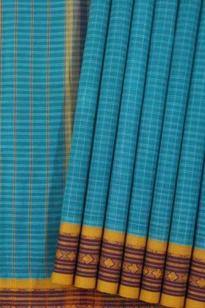 Sky Blue Narayanpet Saree (1)
