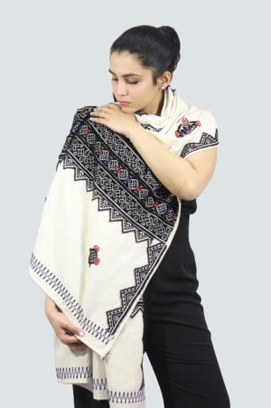 Toda-Embroidery-Wool-Cotton-Shawl-Black A2