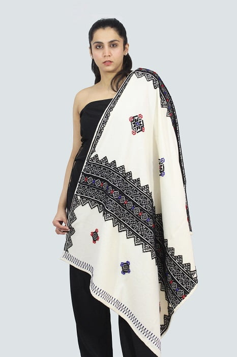 Toda-Embroidery-Wool-Cotton-Shawl-Black A3