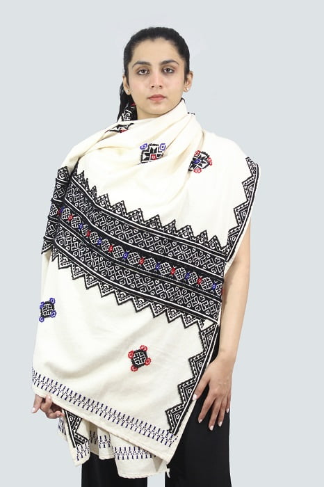 Toda-Embroidery-Wool-Cotton-Shawl-Black A4