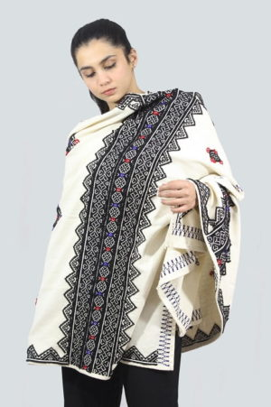 Toda-Embroidery-Wool-Cotton-Shawl-Black A5