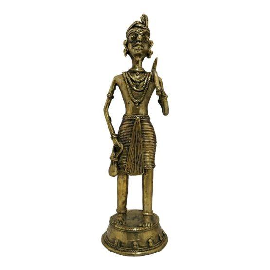 Bastar Dhokra Art - Hunting Tribal Showpiece 2