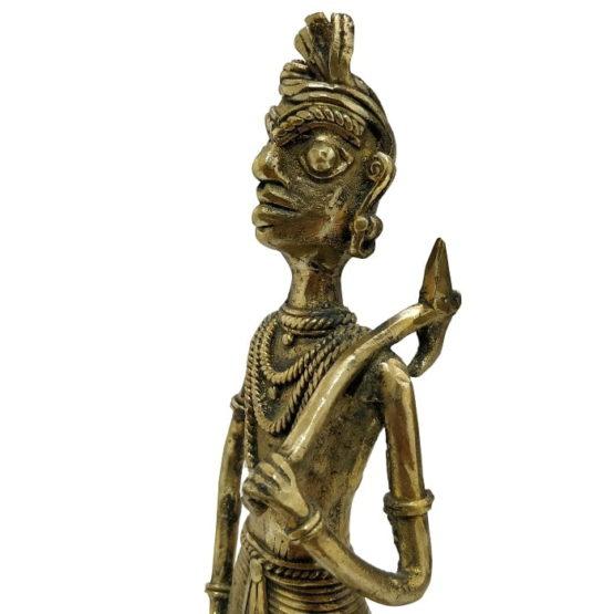 Bastar Dhokra Art - Hunting Tribal Showpiece 4