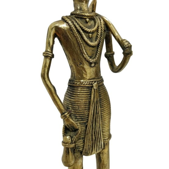 Bastar Dhokra Art - Hunting Tribal Showpiece 5