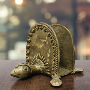 Bastar Dhokra Turtle Card Holder - GiTAGGED 1