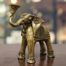 Dhokra Art Elephant Holder 1