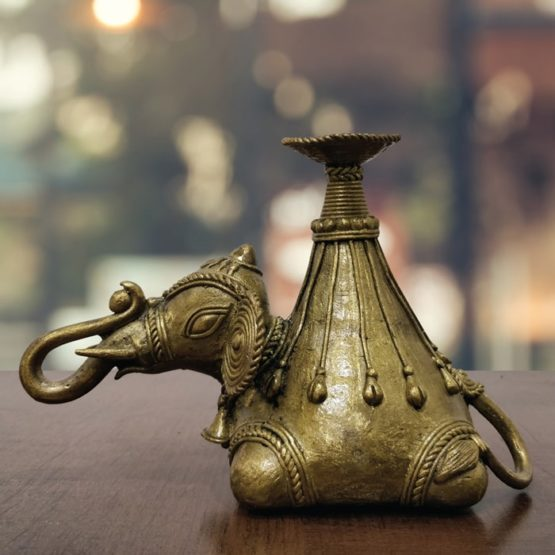Dhokra Art Elephant Pen Holder - GiTAGGED 2