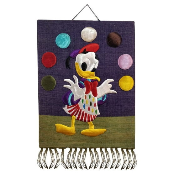 Donald Duck-Pure Jute Handmade Wall Hanging 1