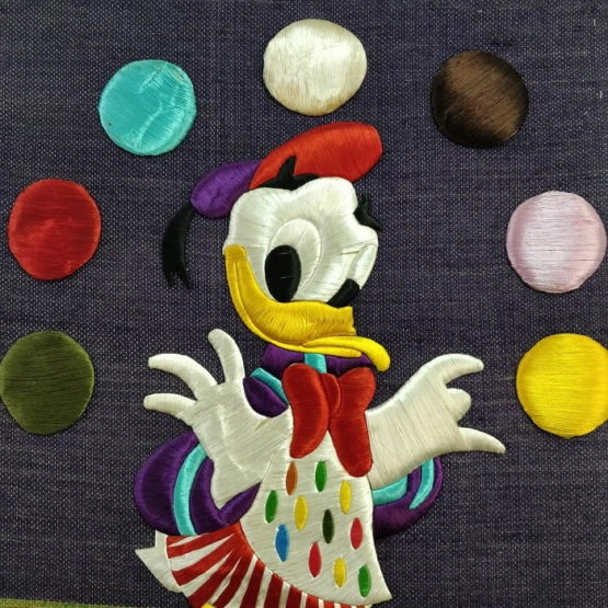 Donald Duck-Pure Jute Handmade Wall Hanging 2