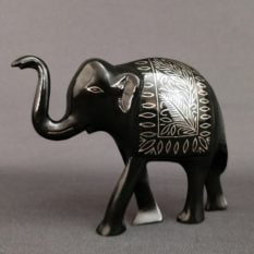Bidriware Silver Inlay Elephant Medium 1
