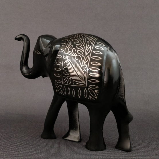 Bidriware Silver Inlay Elephant Medium 2