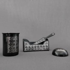 Bidriware Silver Inlay Office Set a1