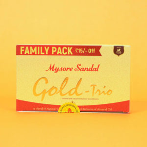 Mysore Sandal Soap Gold -Set 3