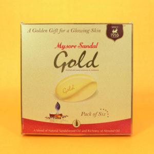 Mysore Sandal Soap Gold -Set 6
