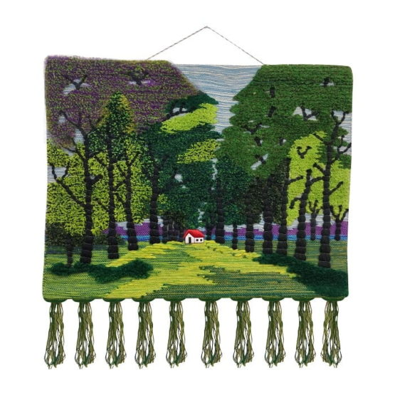 Nature Scape Themed Pure Jute Handmade Wall Hanging 1