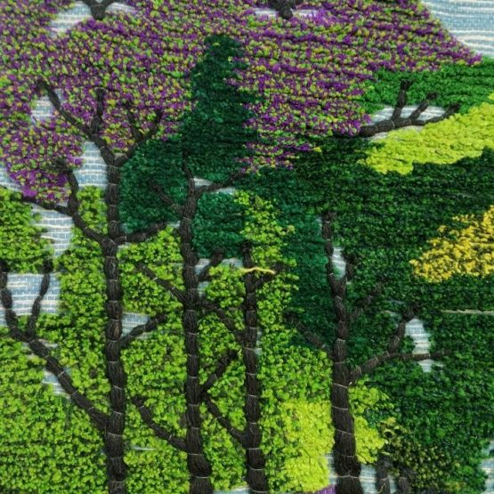 Nature Scape Themed Pure Jute Handmade Wall Hanging 2