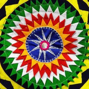 Pipli Applique Work Elephant Mandala Art - Blue 2