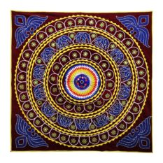 Pipli Applique Work Elephant Mandala Art Maroon 1