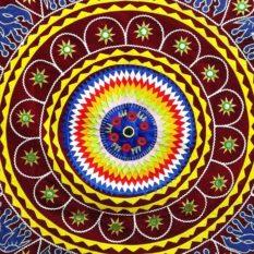 Pipli Applique Work Elephant Mandala Art Maroon 2