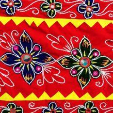 Pipli Applique Work Floral Design Wall Hanging 2