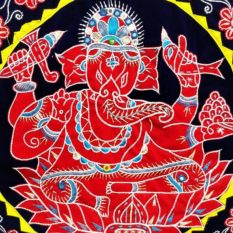 Pipli Applique Work Ganesha Black 2