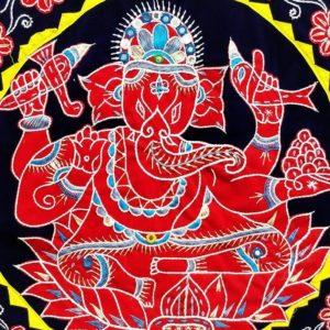 Pipli Applique Work Ganesha Black 2