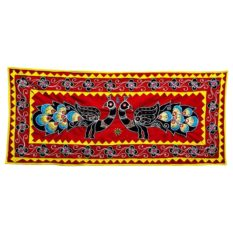 Pipli Applique Work Peacock Design Wall Hanging 1