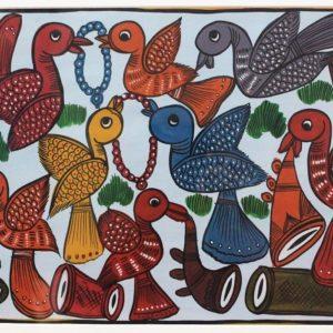 Bengal Pattachitra- Birds Marriage 2