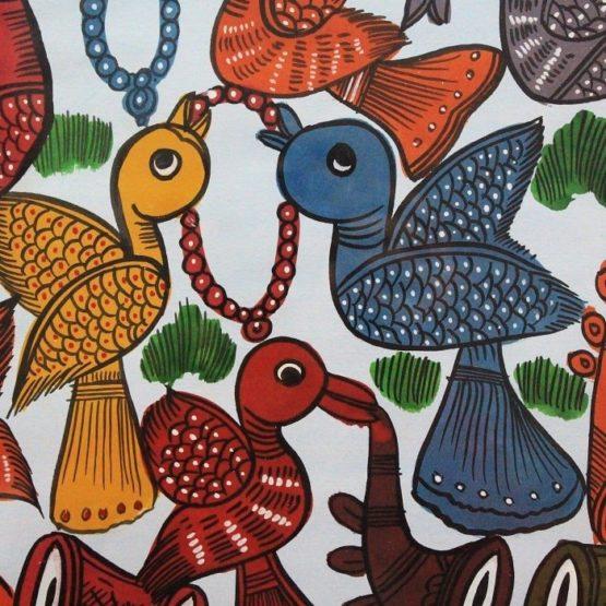 Bengal Pattachitra- Birds Marriage 4