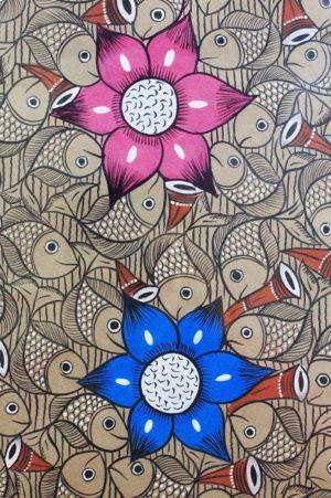 Bengal Pattachitra - Fish Ras Small B2