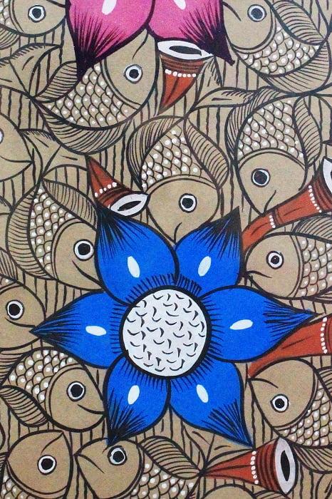 Bengal Pattachitra - Fish Ras Small B4